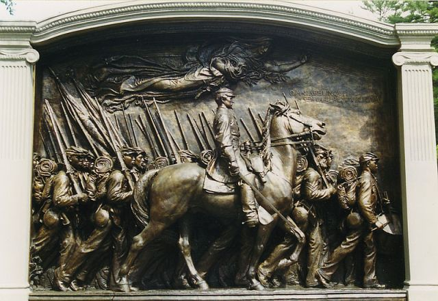 Robert Gould Shaw Memorial, Boston, from Wikipedia