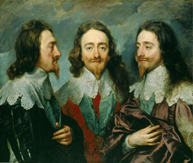 Anthony Van Dyck, Charles I  in three positions (1635)